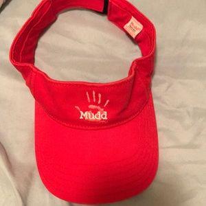 3 for $15 🦋🦋- mudd red visor